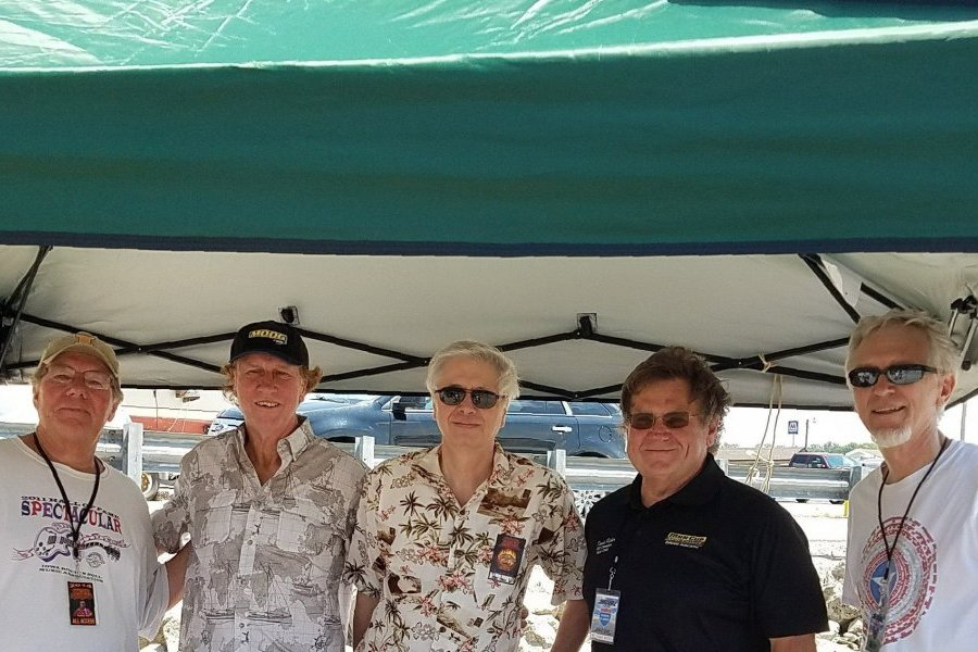 L to R: Founding Head East members Larry and Roger Boyd with former crew members Lenny Hortter, Dennis Fisher, and Stan Gill