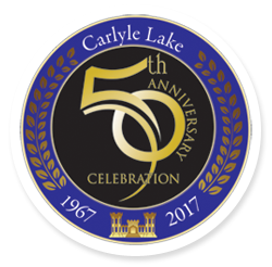 Carlyle Lake 50th Anniversary Logo